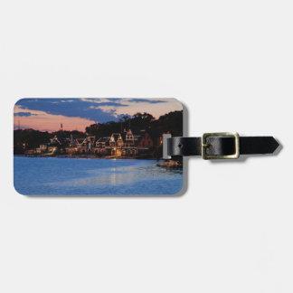 Boathouse Row dusk Luggage Tag