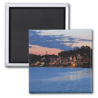 Boathouse Row dusk Magnet