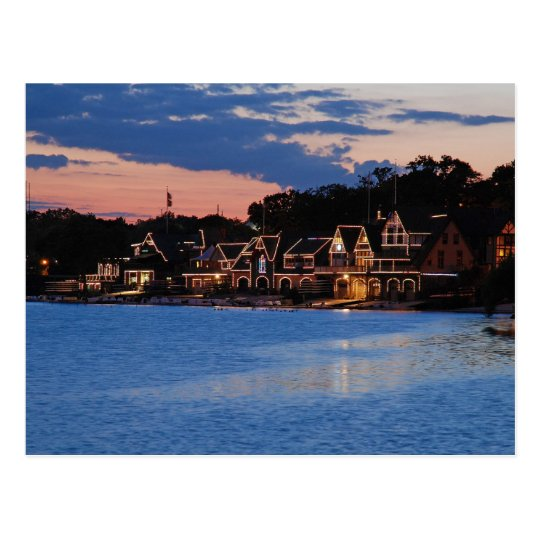 Boathouse Row dusk Postcard