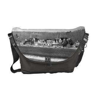 Boathouse Row winter b/w Courier Bags