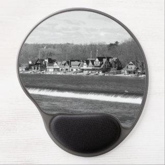 Boathouse Row winter b/w Gel Mouse Pad
