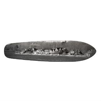 Boathouse Row winter b/w Skate Board Deck