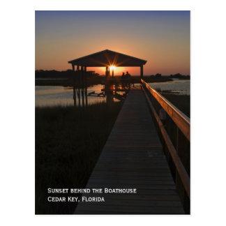 Boathouse Sunset Postcard