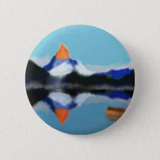 Boating by Mountains Art 2 Inch Round Button