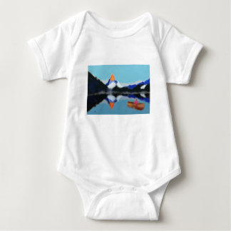 Boating by Mountains Art Baby Bodysuit