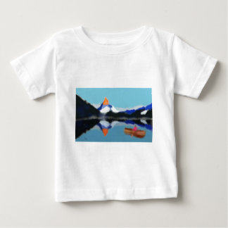 Boating by Mountains Art Baby T-Shirt