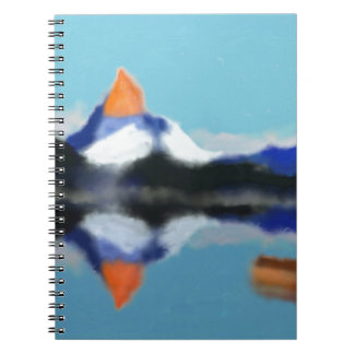 Boating by Mountains Art Notebook