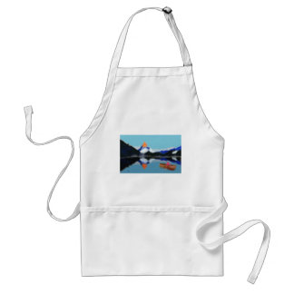 Boating by Mountains Art Standard Apron