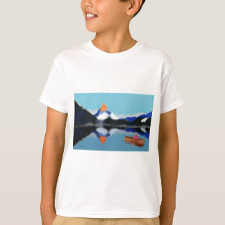 Boating by Mountains Art T-Shirt
