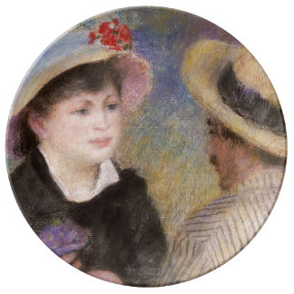 Boating Couple by Pierre-Auguste Renoir Plate