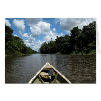 Boating down the Amazon Card