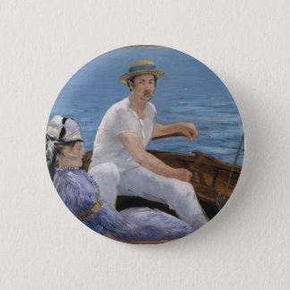 Boating - Édouard Manet 2 Inch Round Button