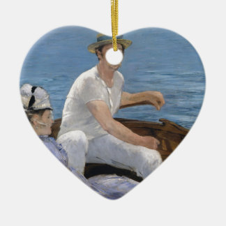 Boating - Édouard Manet Ceramic Ornament
