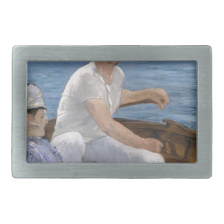 Boating - Édouard Manet Rectangular Belt Buckle