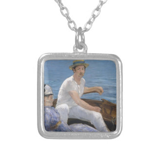Boating - Édouard Manet Silver Plated Necklace