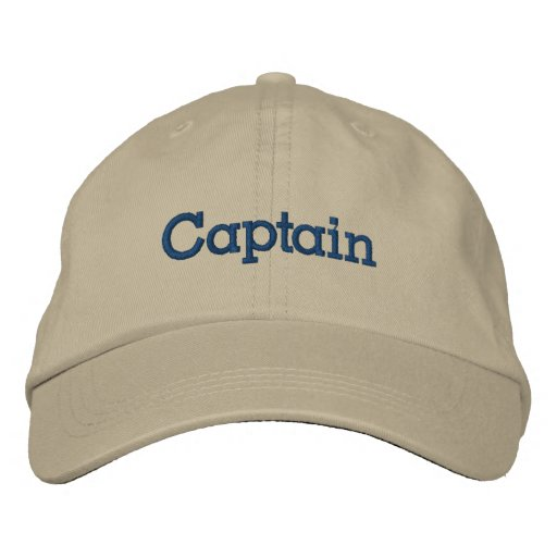 Boating Gift - Captain Hat Embroidered Hats