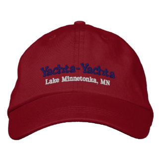 Boating Hat - Personalize with boat name Embroidered Baseball Cap