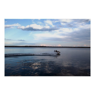 Boating in the Kingston lake, Ontario Poster