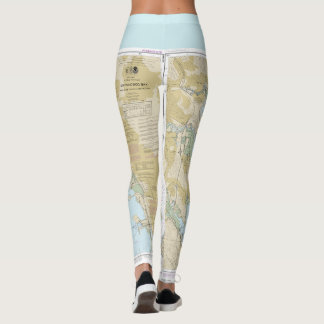 Boating Nautical Chart of San Francisco Bay Leggings