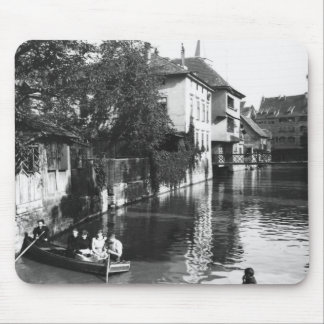 Boating on the river Gera at Erfurt Mouse Pad