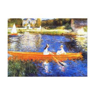 Boating on the Seine River Renoir Fine Art Canvas Print