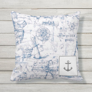 Boating Outdoor Throw Pillow