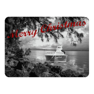 "Boating Santa Claus Christmas Card 4.5"" X 6.25"" Invitation Card"