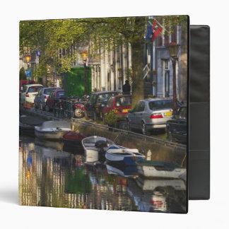 Boats and buildings along the canal belt, 3 ring binder