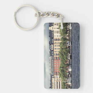 Boats and houses in Stockholm Keychain