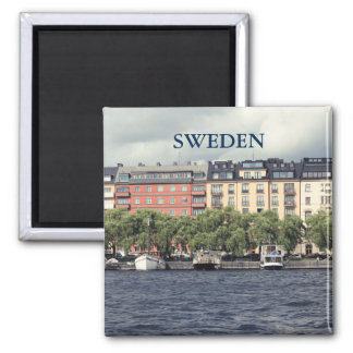 Boats and houses in Stockholm Magnet