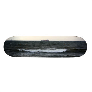 Boats and Surge in the Atlantic Ocean from the coa Skateboards