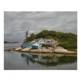 Boats Ashore Peggys Cove Nova Scotia Photo Print