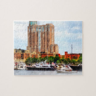 Boats at Inner Harbor Baltimore MD Jigsaw Puzzle