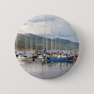 Boats at Kyleakin, Isle of Skye, Scotland 2 Inch Round Button