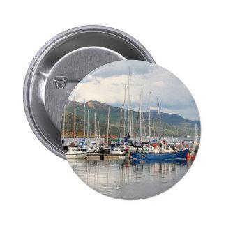 Boats at Kyleakin, Isle of Skye, Scotland 2 Inch Round Button