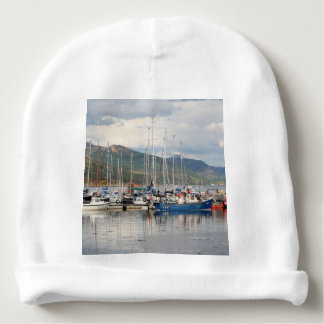 Boats at Kyleakin, Isle of Skye, Scotland Baby Beanie