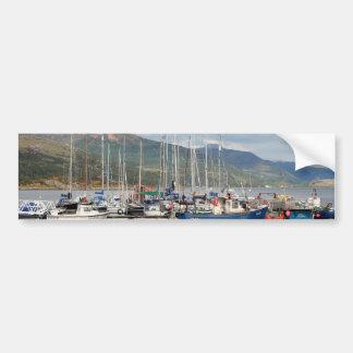 Boats at Kyleakin, Isle of Skye, Scotland Bumper Sticker