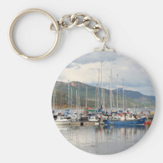 Boats at Kyleakin, Isle of Skye, Scotland Keychain