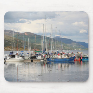 Boats at Kyleakin, Isle of Skye, Scotland Mouse Pad