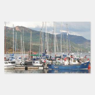 Boats at Kyleakin, Isle of Skye, Scotland Sticker