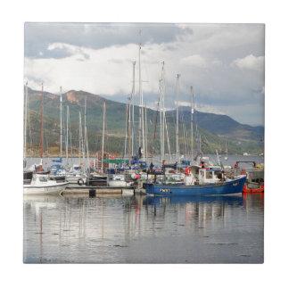 Boats at Kyleakin, Isle of Skye, Scotland Tiles