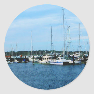 Boats at Newport RI Classic Round Sticker