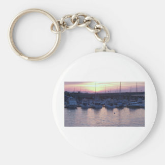 Boats at rest basic round button keychain