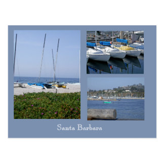 Boats at Santa Barbara 3 Photo Template Postcard
