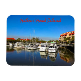 Boats at Shelter Cove Marina Hilton Head Island SC Magnet