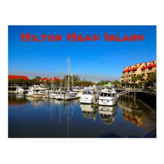 Boats at Shelter Cove Marina Hilton Head Island SC Postcard