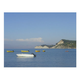 Boats at Sidari, Corfu (Greece) Postcard