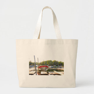 Boats at the Harbour Large Tote Bag
