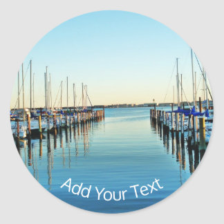 Boats At The Marina by Shirley Taylor Classic Round Sticker