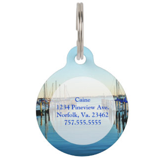 Boats At The Marina by Shirley Taylor Pet ID Tags